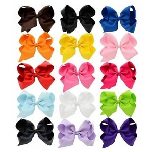 15 New Hair Bows, 6 Inches